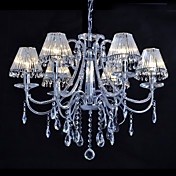 Crystal Chandelier with 6 Lights in Warm Light
