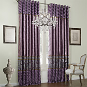 (One Panel) Traditional Piecing Lined Curtain