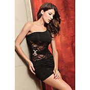 Sexy One Shoulder Lace Dress(Bust:86-102Waist:58-79Hips:90-104Length:70CM)