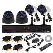 4CH 960H Home Security System DVR Kit (4pcs 700TVL IR Cut Indoor/Outdoor Camera, HDMI USB 3G Wifi)