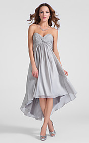 A-line Sweetheart Asymmetrical Chiffon Cocktail Dress